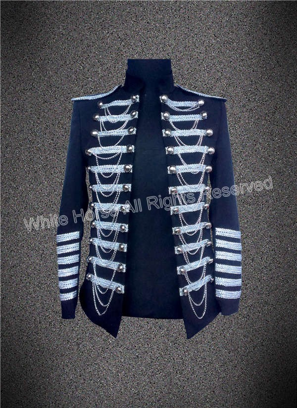 New Arrival Men fashion 2018 Men Blazer Black and White Men Stage font b Jacket b