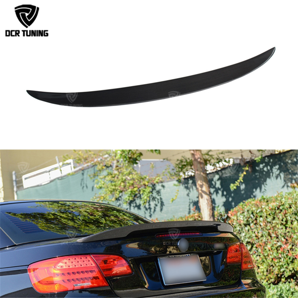 Performance For BMW 3 Series E93 325i 328i 330i 335i 2-Door Convertible E93 M3 P Style Carbon Fiber Rear Trunk Spoiler 2007-2013 цены