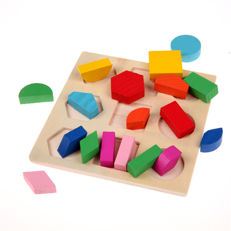 цена на Learning Education Math Toys Wooden Puzzle Toys For Children Popular Montessori Educational Equipment Resources Geometry Games