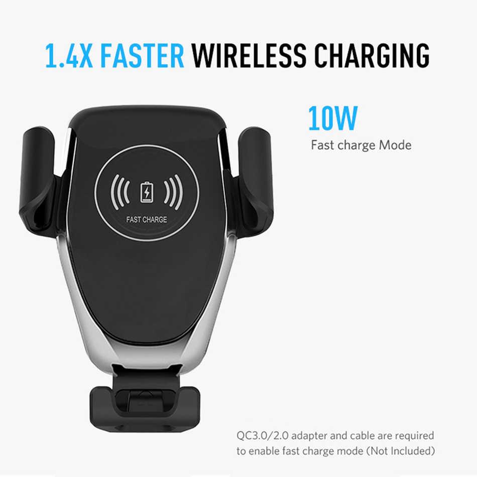 KISSCASE тяжести Qi автомобиля Беспроводной Зарядное устройство для iPhone 7 8 Plus XR XS Max X Быстрая зарядка Беспроводной автомобиля Зарядное устройство для samsung Galaxy S10 плюс беспроводная зарядка iphone зарядк