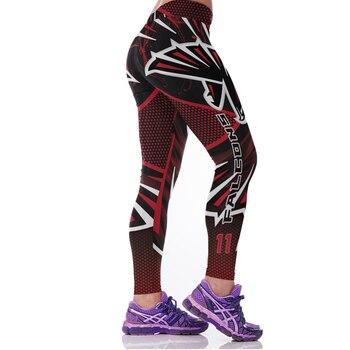 2017 Sporting Leggings 3D Eagle Printed American Apparel Footballs Training Pants High Waist Sexy Slim Fitness Jogging Jeggings 1