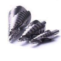 3Pcs Top Quality HSS Spiral Groove Step Drill Bit Step Size 4 32mm 4 20mm 4