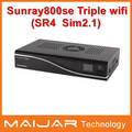800se triple SR4  with wifi Enigma2 linux os dvb-s2+c+t2 combo sunray sim2.1 sun800se triple hot selling satellite receiver