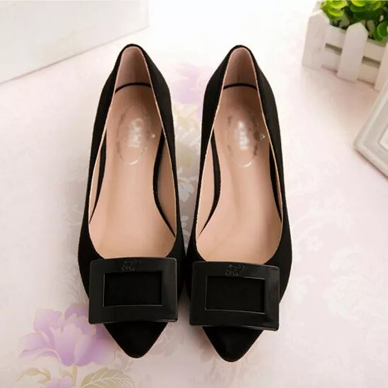 ФОТО Spring and autumn low-heeled pointed toe shoes shallow mouth women's small yards 31 32 33 plus size 40 41 42 43 shoes free shipp