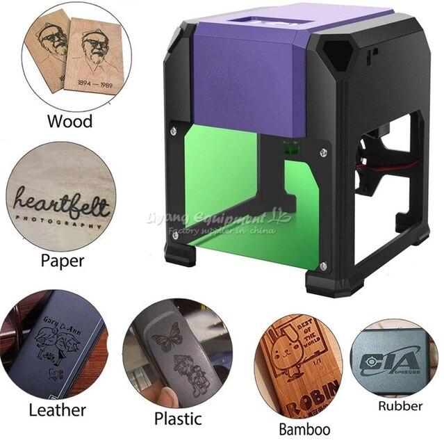 1000mw 1500mW 1.5W USB Desktop Laser Engraver Machine DIY Logo Mark Printer Cutter CNC Carving Machine 80x80mm Engraving Range