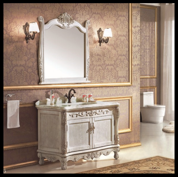 Land stijl houten wit badkamer kasten groothandel badkamer ...