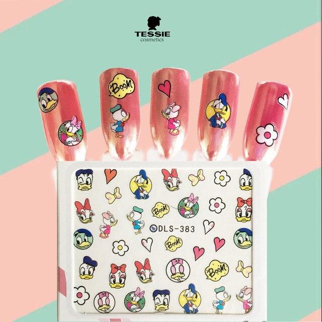 Tessie Winkel Donald Duck Decals Nail Stickers Cartoon Nail Transfer