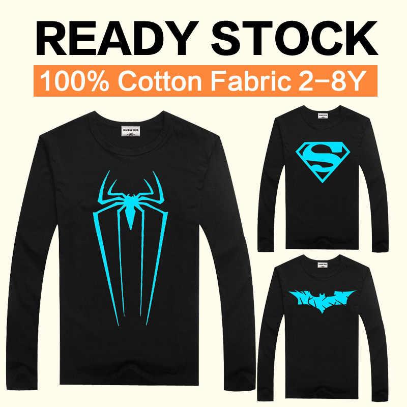 2ca5517b6 Luminosa Camiseta de manga larga para niños T camisa Batman Navidad  adolescente chica Tops tamaño 2
