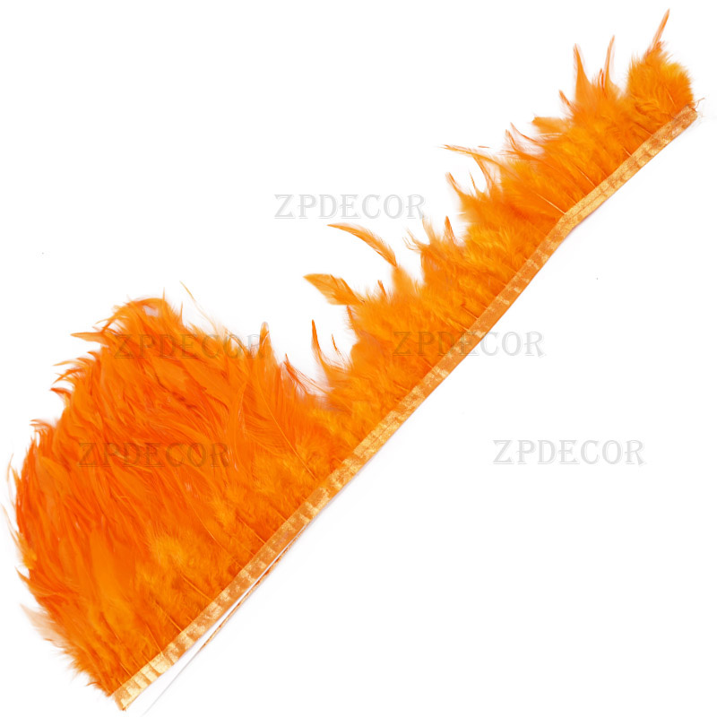 ZPDECOR 1 5 Meter 10 15 CM Chicken Cock Feathers Trim Cloth Sideband Rooster Tail Feather Trims Clothing Wedding Decoration in Feather from Home Garden