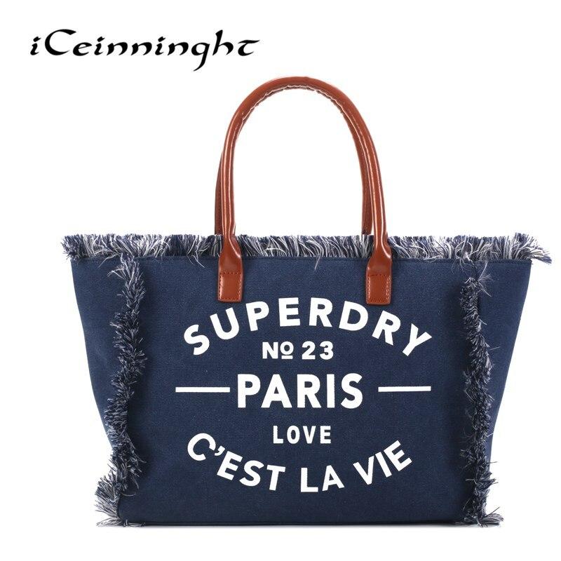 Для женщин сумка холст Повседневное Портфели Tote Для женщин плечо сумка через плечо для отдыха Винтаж Стиль школьные сумки