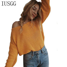 Winter Sexy Deep V-neck Knitted Sweaters Warm Fashion Women Long Sleeve Off Shoulder Sweaters Casual Jumper Autumn Top Pullover black fashion v neck drop shoulder jumper