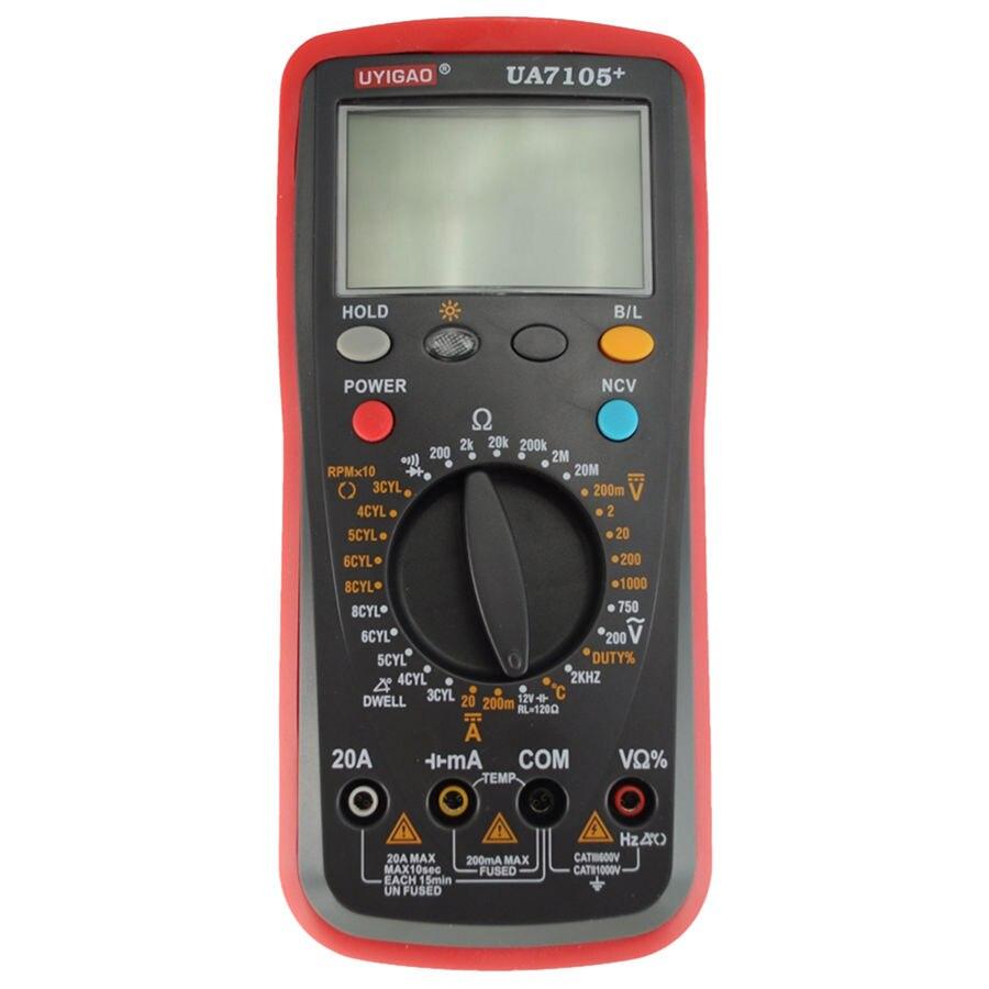UYIGAO Professional Automotive Multi-Purpose Meters UA7105+ [randomtext category=