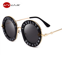 UVLAIK Sunglasses Bees GG House Of Holland Letter Men Sunglass Woman Retro Round Eyewear Ladies UV400