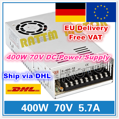 [EU STOCK] 400W 70V Switch Power Supply! DC Power S-400-70 5.7A CNC Router Single Output Foaming Mill Cut Laser Engraver Plasma