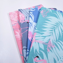 100 Cotton Twill Fabric Flamingo Print Patchwork Textile Cloth DIY Sewing Fabric Baby & Child Breathable Cotton Fabric Meter
