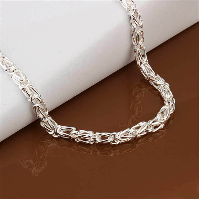 622f9ce777542 Silver 925 Necklace for Men Women Fashion Male Jewelry Accessories Spigot  Chain Dragon Necklaces Homme Collier Christmas Gifts