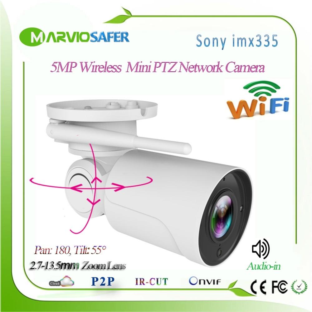 H.265 3MP/5MP 2560*1920 Wifi IP PTZ сетевая камера, CCTV Беспроводная система видеонаблюдения Onvif Wi Fi IP Cam Audio in Camhi