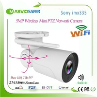 H.265 3MP/5MP 2560*1920 Wifi IP PTZ Network Camera, CCTV Wireless Security Surveillance System Onvif Wi fi IP Cam Audio in Camhi