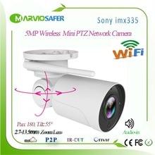 H.265 3MP/5MP 2560*1920 Wifi IP PTZ Telecamera di Rete, sistema di Sorveglianza di Sicurezza A CIRCUITO CHIUSO Senza Fili Onvif Wi Fi IP Cam Audio in Camhi