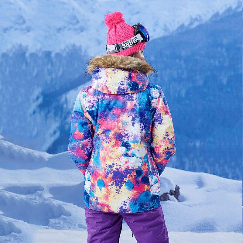 GSOU SNOW combinaison de Ski femme extérieur hiver imperméable respirant coupe-vent chaud veste de Ski manteau de neige pour femme taille XS-L - 6