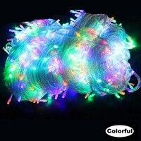 AC220V 100M 600leds String light Colorful White Warm White Blue christmas Holiday Party Wedding fairy decoration Lighting