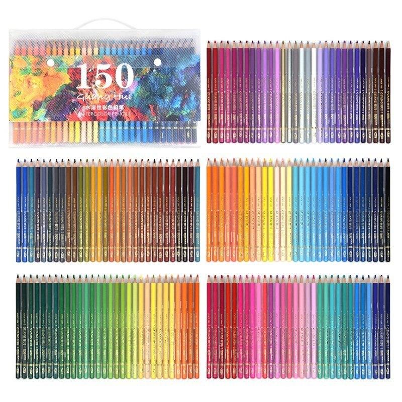 CHENYU 150 Farbige Bleistifte Prisma Lapis de cor 160 kerne Wasser Löslich farbe Bleistift für Kunst Schule Liefert