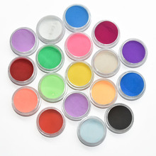 18 Boxes 18 Colors Fine Shiny Nail Art Glitter Powder Dust UV Gel Acrylic Powder