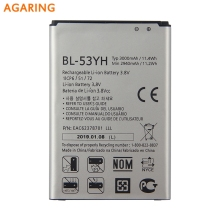 Agaring Original Replacement Phone Battery BL-53YH For LG G3 F400 F460 D858 D830 VS985 Authenic Rechargeable Battery 3000mAh replacement 3 8v 7000mah li ion battery back case for lg g3 bl 53yh d855 vs985 white