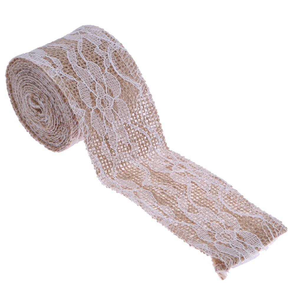 Natural yute arpillera cinta de encaje de arpillera de Navidad de la - Para fiestas y celebraciones - foto 6