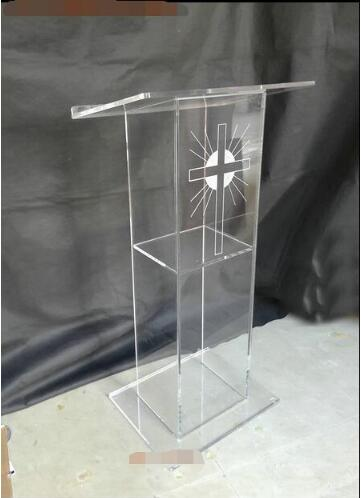 Free Shipping Hot Sell Pulpit Stand Cheap Transparent Acrylic Podium Pulpit Lectern Lectern Podium Workshop Series