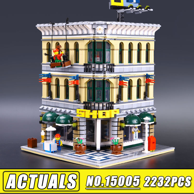 2018 LEPIN 15005 NEW 2232Pcs City Grand Emporium Model Building Blocks Kits Brick Toy Compatible 10211 Children Gift