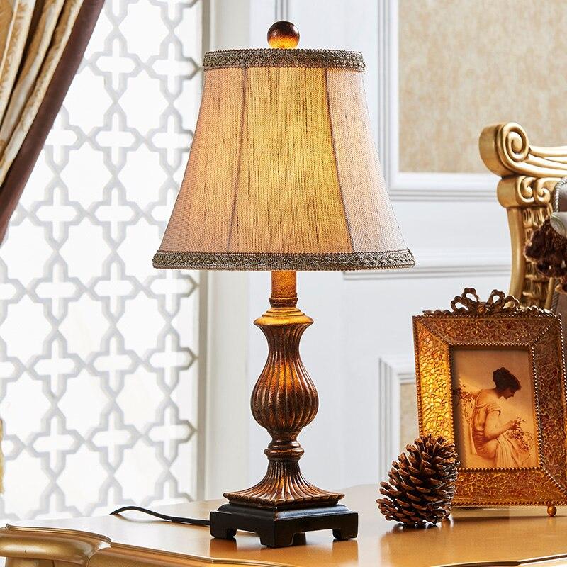 ФОТО American small lamp bedroom bedside lamp warm Vintage Wedding study rural Nordic modern minimalist art lamps