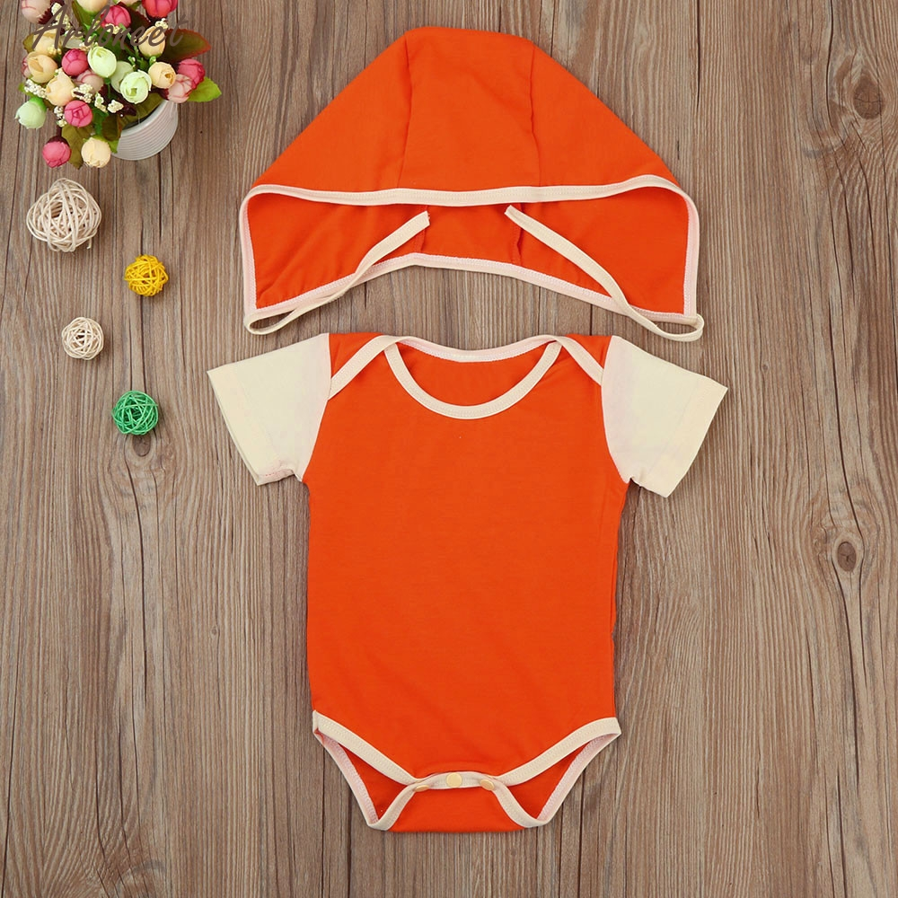 ARLONEET Baby Girl Clothes Newborn Infant Kids Baby Girls Short Sleeve Romper+Hat Outfits Clothes E30 Jan05