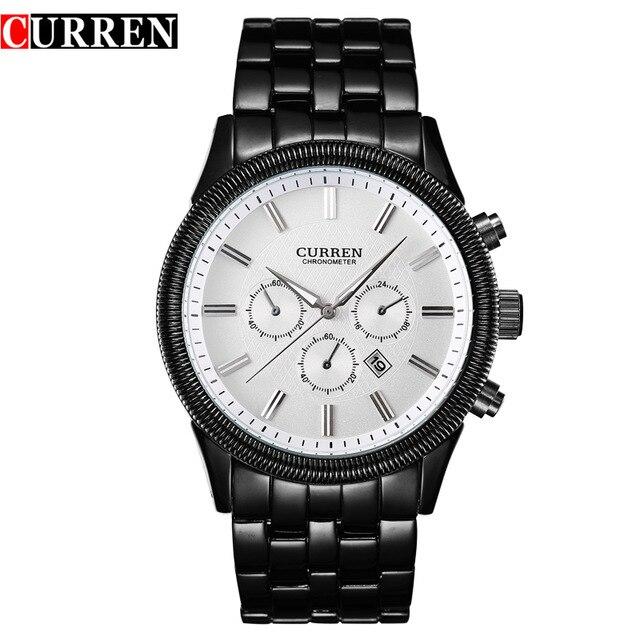 CURREN 8058 watches men brand watch men White Steel Watch with Calendar curren 8058 watches men brand watch men white steel watch with calendar