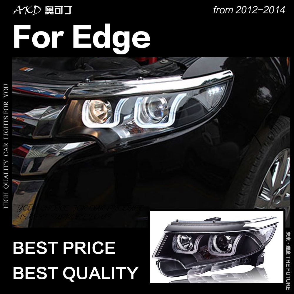 AKD Car Styling for Ford Edge Headlights 2012 2014 Edge LED Headlight DRL Hid Head Lamp