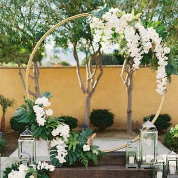 Железный круг свадебные арки реквизит фон один арка цветок открытый газон Свадьба Цветок дверь стойка Свадьба День рождения украшение