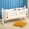 European Style Multifunctional Baby Bed Wooden Baby Crib Newborn Infant Baby Swing Cradle Comfortable Game Bed C01