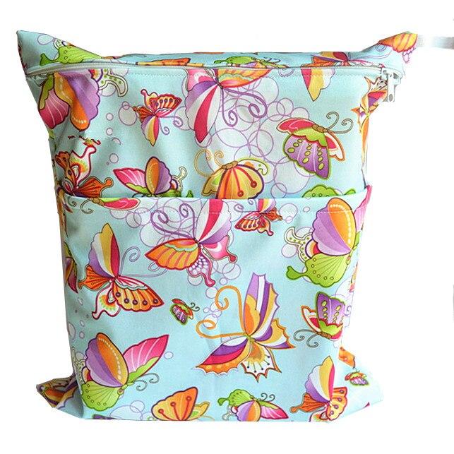 [Sigzagor] 1 Влажная сухая сумка с двумя молниями для детских подгузников, водонепроницаемая сумка для подгузников, розничная и, 36 см x 29 см, на выбор 1000 - Цвет: W35