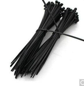 Шнур для кабеля 250 шт 500 шт 5*120 150 180 200 250 300 мм белый черный цвет самоблокирующийся пластиковый нейлоновый кабель, провод на молнии