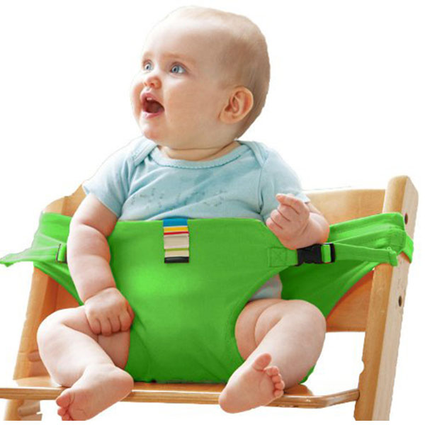 Portable Baby Chair Infant Seat Product Dining Lunch Chair Seat Safety Belt Feeding High Harness FJ88