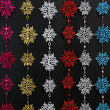 10Pcs Xmas Glitter Snowflake Christmas Ornaments Party Xmas Tree Hanging Decoration Window Party Home Decor