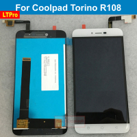 Wholesale 5 5 White Gold Color LCD Display Touch Screen Digitizer Assembly For Coolpad Torino R108