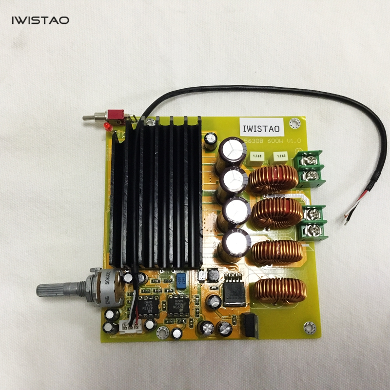 TAS5630 Amplifier Class D Board High-power Finished Boards Mono 600w for Subwoofer or Full Range DIY Free Shipping j142 acrylic board 30 20cm full thickness 2mm cover thicken film high transparency plastic board for diy used free shipping