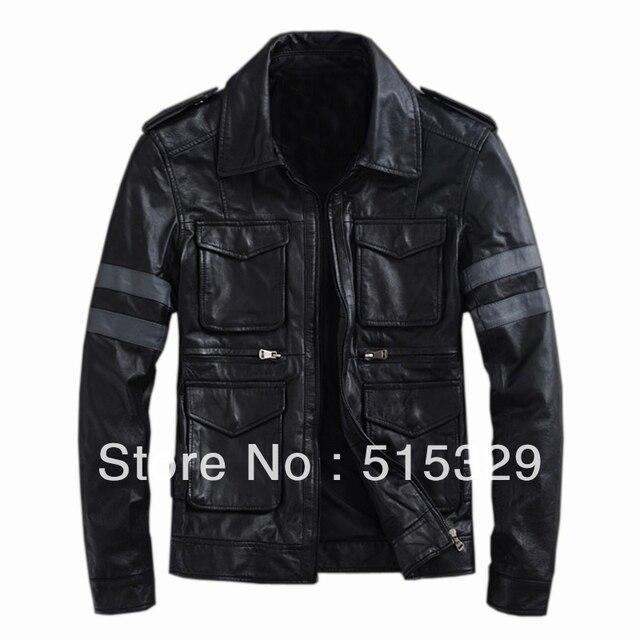 TM201209005 Resident Evil classic explosion THOOO Gentlemen  PU Leather Jacket Coat Motorcycle leon  M L XL 2XL 3XL 4XL 5XL