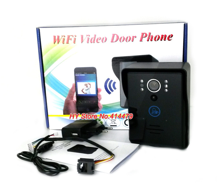 Wireless Wifi Video Doorphone Doorbell Intercom Support Recording intercom Unlock IR Motion detection