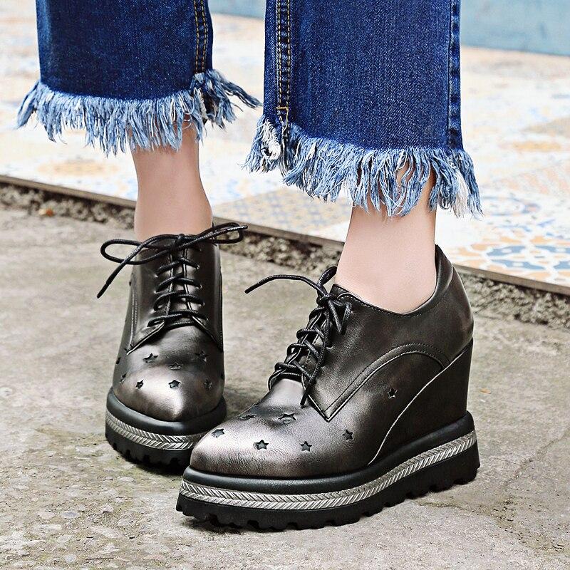Femme D87 D87 Compensés Plateforme Oxford pewter Pointus Chaussures Talons De red Cales Haute Mode Blue Épais 2017 D87 Orteils Escarpins Pour Richelieu Fond bIY7vfy6g