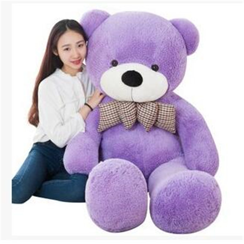 ФОТО New 1pc Huge Size 160cm USA Giant Bear Skin Teddy Bear Hull Plush Toys Gift Super Quality Wholesale Price Selling Toys For Girls