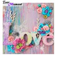 Ever Moment Diamond Painting Handmade Full Square Drill Mosaic 5D DIY Picture Of Rhinestone Diamond Embroidery Love Flower 3F195