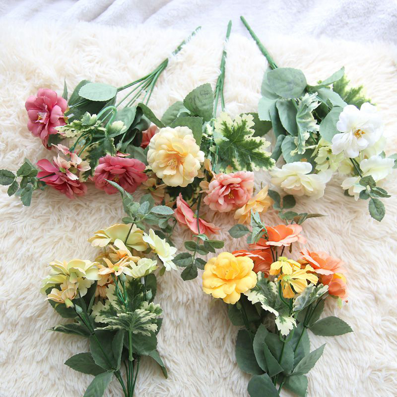 Medical & Mobility Intelligent 1 Pcs Tea Rose Artificial Flowers Without Vase Party Hotel Office Wedding Artificial Flower Decoration Or Valentines Day Gift Top Watermelons