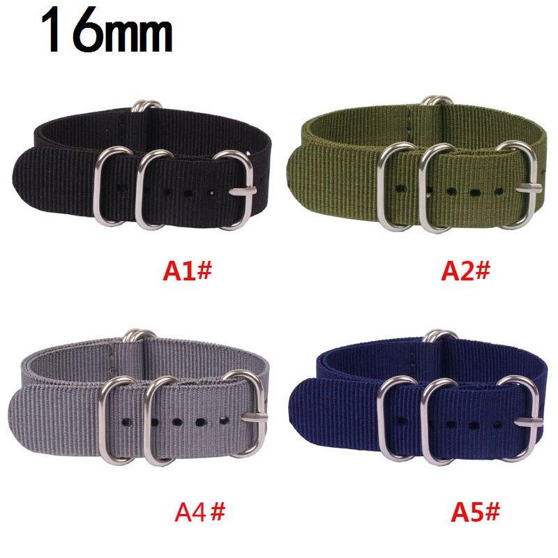 купить 16mm 18mm 20mm 22mm 24mm Nylon Watch Band NATO Strap Zulu Strap Watch Strap Ring Buckle 1PCS Heavy Duty Nylon Straps 2018 TOP по цене 199.65 рублей